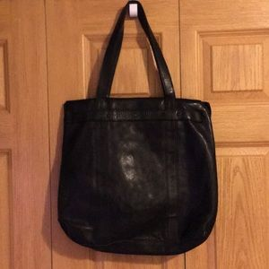 All saints Storm leather tote